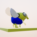 Animated fly - webXR